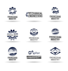 Set of mechanical engineering icons (set 1). Mechanic icon.
