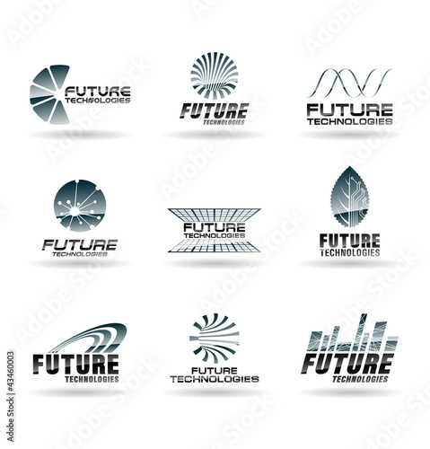 Set of Future technology icons. Abstract design elements.