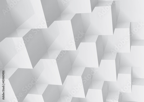Fridge magnet Abstract geometric background stacked cube, change colors
