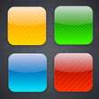 Square striped app template icons.