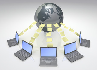 Global Computers Network 3D