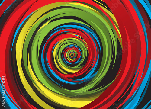 Abstract rainbow swirl