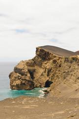 Volcano dos Capelinhos landscape, Faial island, Azores