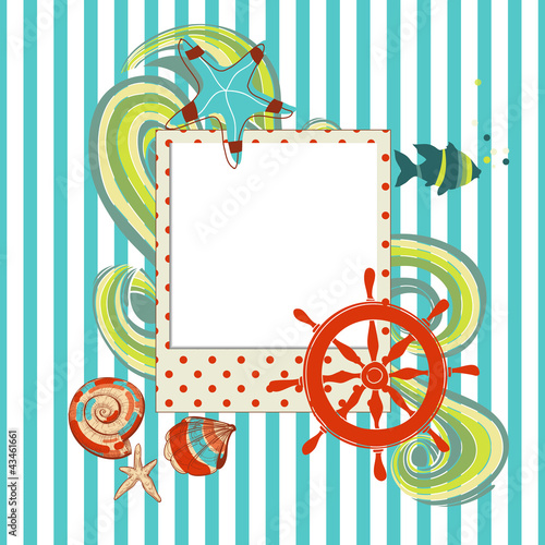 Marine scrapbook with photo frame