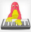 Funny Monster. Pianist.