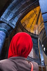 verschleierte Frau in Mosche