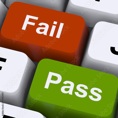 Pass Or Fail Keys To Show Exam Or Test Result