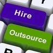 Outsource Hire Keys Showing Subcontracting And Freelance