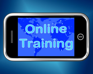 Online Training Mobile Message Shows Web Learning