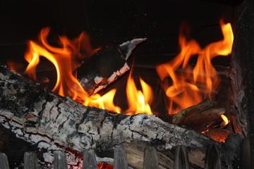 Beua feu du soir