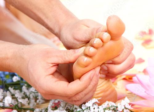 Foot massage.
