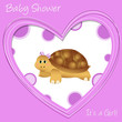 baby shower - turtle - nascita bimba - it's a girl - tartaruga