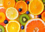 Fresh sliced fruits