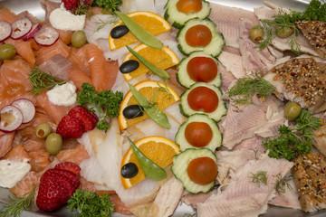 Gemischte Fischplatte - Fischteller vom Partyservice