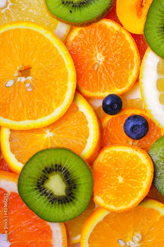 Poster Fresh sliced fruits
