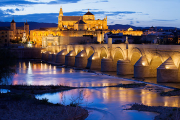 Mezquita and Roman Bridge in Cordoba