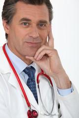 doctor posing