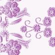 floral background- purple