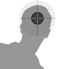 target on man head illustration