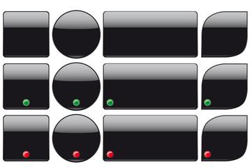 Blank black plastic buttons