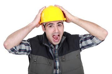 Shocked builder
