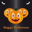 Pumpkins in a Halloween