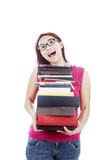 Female student carrying books