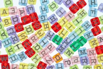 Bunte Buchstabenwürfel
