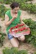 Strawberry eating women