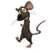 3D Cartoon Mouse Isolated