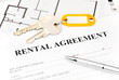 rental agreement document with keys