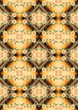 Seamless mosaic gradient with pattern of yellow flowers.