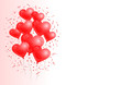 Red Heart Balloons Background