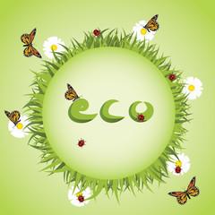 Eco earth abstract vector