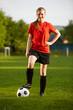 Portrait einer Fußballerin
