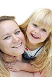 Mutter und Kind lächeln poster