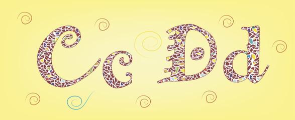 алфавит C D