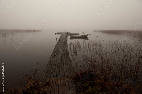 Fototapeten,nebel,nebelig,wellenbrecher,see