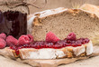 Raspberry Jam on rustic background