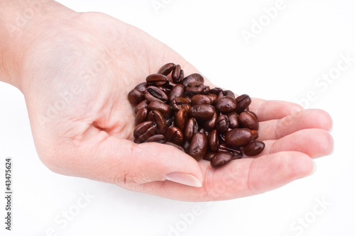 One handful of coffee