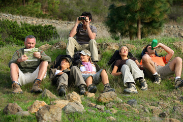Hikers taking a break