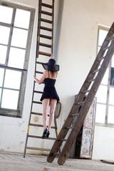 Sexy Frau mit Aufstiegschancen