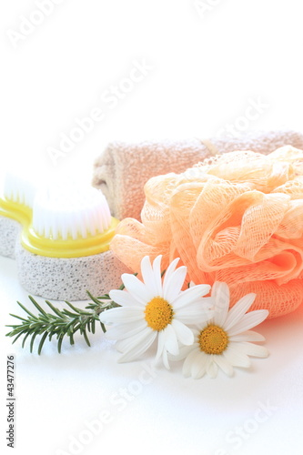 bath goods and flower for lifestyle image