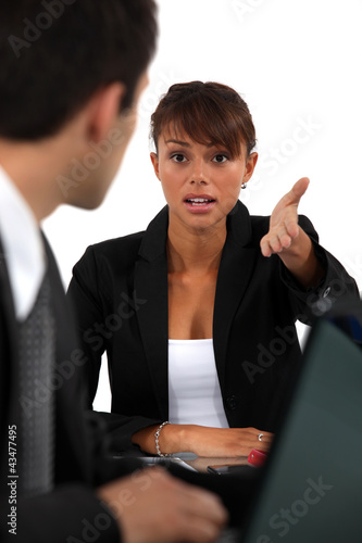 Business partners having heated debate