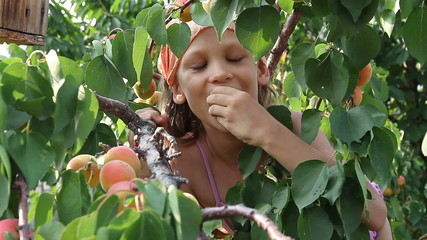 Girl regales apricot