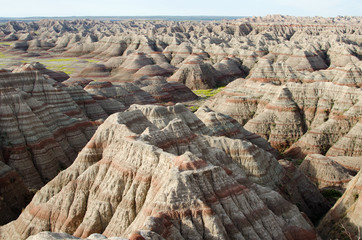 Aerial view over Badlands National Park, South Dakota, USA