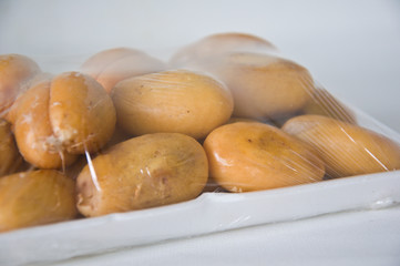 closeup of Thai sweet fruit,Zalacca in package