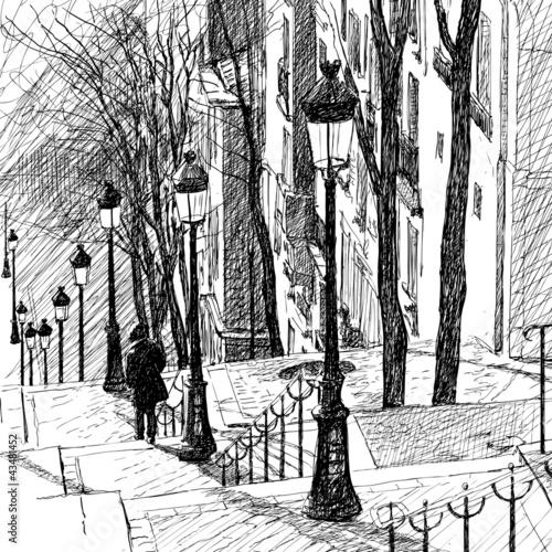 Fototapeta Montmartre in Paris