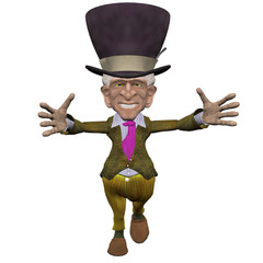 Mad Hatter 3D Isolated