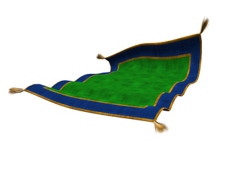 3D Magic Carpet Isolated